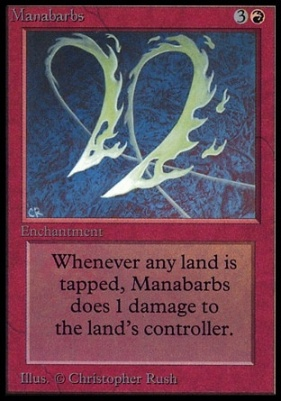 Collectors Ed Intl: Manabarbs (Not Tournament Legal)