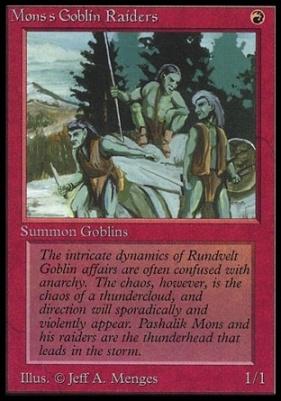 Collectors Ed Intl: Mons's Goblin Raiders (Not Tournament Legal)