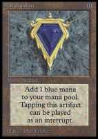 Collectors Ed Intl: Mox Sapphire (Not Tournament Legal)