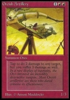 Collectors Ed Intl: Orcish Artillery (Not Tournament Legal)