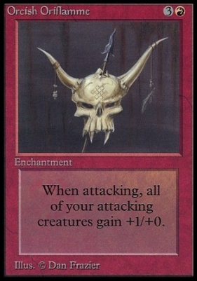 Collectors Ed Intl: Orcish Oriflamme (Not Tournament Legal)