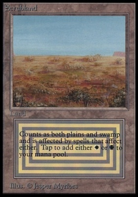 Collectors Ed Intl: Scrubland (Not Tournament Legal)