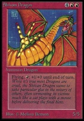 Collectors Ed Intl: Shivan Dragon (Not Tournament Legal)