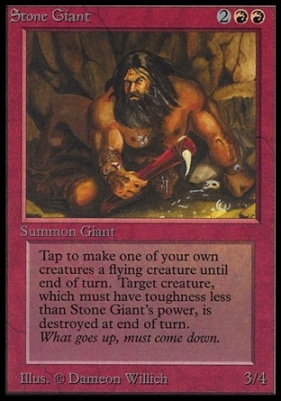 Collectors Ed Intl: Stone Giant (Not Tournament Legal)