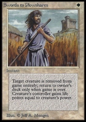 Collectors Ed Intl: Swords to Plowshares (Not Tournament Legal)
