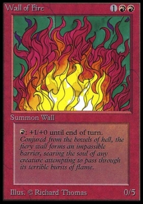 Collectors Ed Intl: Wall of Fire (Not Tournament Legal)