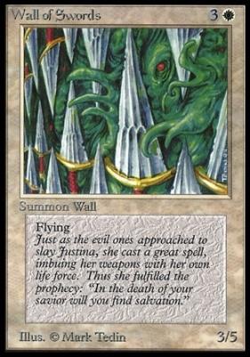 Collectors Ed Intl: Wall of Swords (Not Tournament Legal)