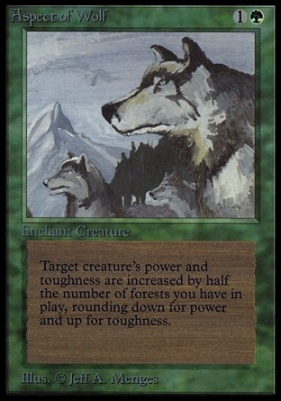 Collectors Ed: Aspect of Wolf (Not Tournament Legal)