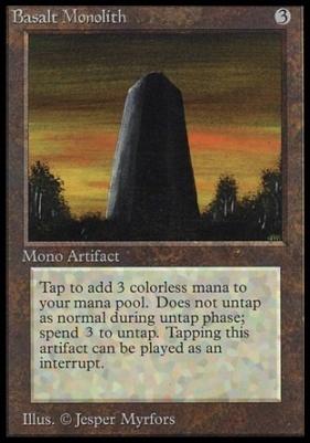 Collectors Ed: Basalt Monolith (Not Tournament Legal)