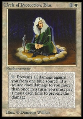 Collectors Ed: Circle of Protection: Blue (Not Tournament Legal)
