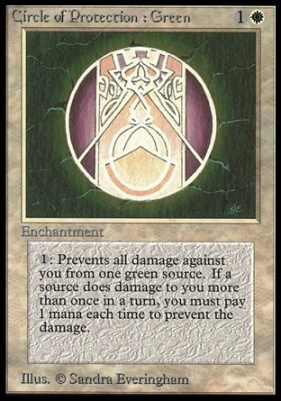 Collectors Ed: Circle of Protection: Green (Not Tournament Legal)