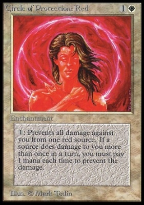 Collectors Ed: Circle of Protection: Red (Not Tournament Legal)