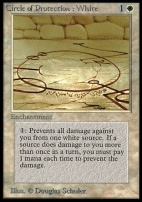 Collectors Ed: Circle of Protection: White (Not Tournament Legal)