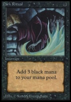 Collectors Ed: Dark Ritual (Not Tournament Legal)