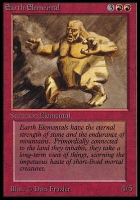 Collectors Ed: Earth Elemental (Not Tournament Legal)
