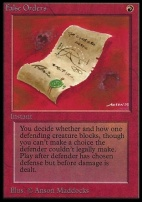 Collectors Ed: False Orders (Not Tournament Legal)