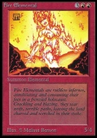 Collectors Ed: Fire Elemental (Not Tournament Legal)