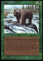 Collectors Ed: Grizzly Bears (Not Tournament Legal)