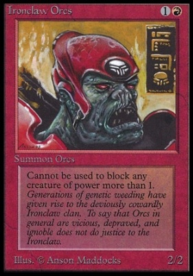 Collectors Ed: Ironclaw Orcs (Not Tournament Legal)