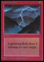 Collectors Ed: Lightning Bolt (Not Tournament Legal)
