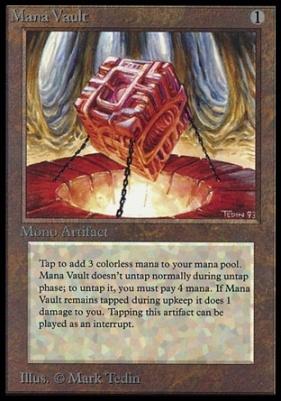 Collectors Ed: Mana Vault (Not Tournament Legal)