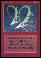 Collectors Ed: Manabarbs (Not Tournament Legal)