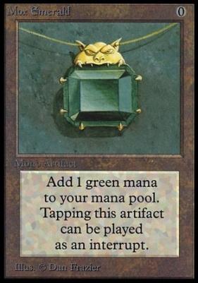 Collectors Ed: Mox Emerald (Not Tournament Legal)