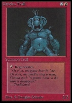 Collectors Ed: Uthden Troll (Not Tournament Legal)