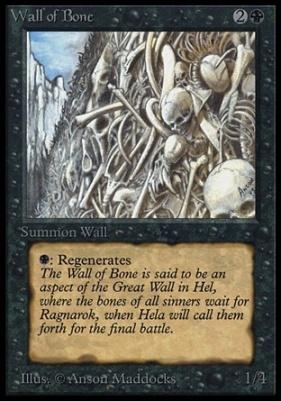 Collectors Ed: Wall of Bone (Not Tournament Legal)