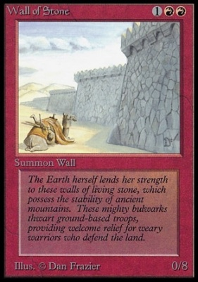 Collectors Ed: Wall of Stone (Not Tournament Legal)