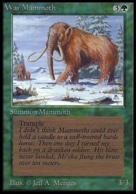 Collectors Ed: War Mammoth (Not Tournament Legal)
