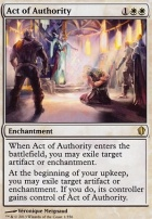 Commander 2013: Act of Authority