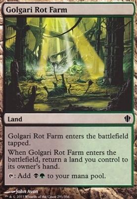 Commander 2013 *Dual* MTG 4x GOLGARI ROT FARM