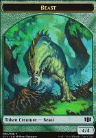 Commander 2014: Beast Token (Prescott) - Elf Druid Token