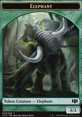 Commander 2014: Elephant Token - Elf Warrior Token