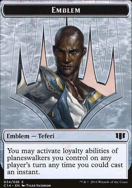 Commander 2014: Emblem - Zombie Token (Teferi - Blue)