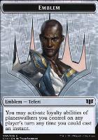Commander 2014: Emblem (Teferi) - Zombie (Blue) Token