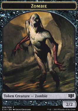 Commander 2014: Horror Token - Zombie Token (Black)
