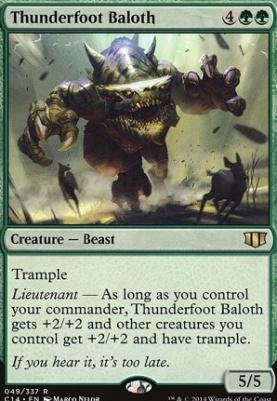 Commander 2014: Thunderfoot Baloth