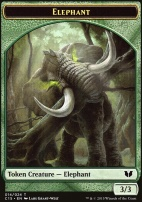 Commander 2015: Elephant Token- Saproling Token
