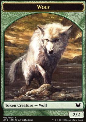 Commander 2015: Wolf Token - Zombie Token (Black)