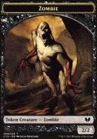 Commander 2015: Zombie Token - Spirit Token (Black - White/Black)