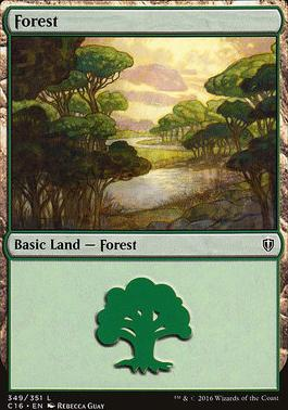 Commander 2016: Forest (349 A)