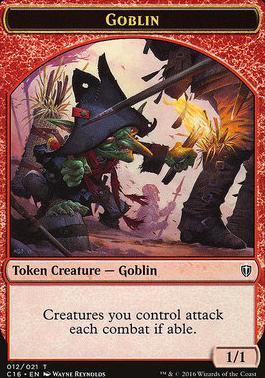 Mtg Card # 2J10 Goblin Token