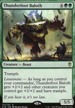 Commander 2016: Thunderfoot Baloth