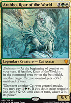 Commander 2017: Arahbo, Roar of the World (Oversized Foil)