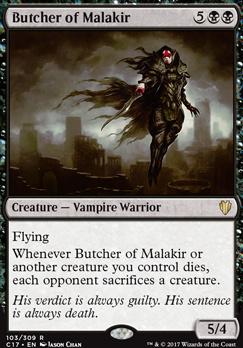 Commander 2017: Butcher of Malakir