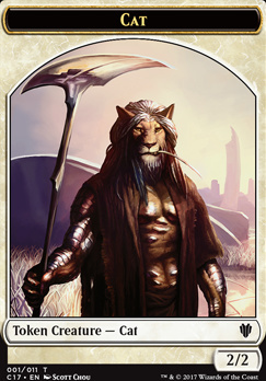 Commander 2017: Cat Token - Cat Warrior Token