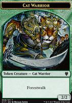 Commander 2017: Cat Warrior Token - Rat Token