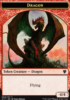 Commander 2017: Dragon Token (Kovacs) - Gold Token
